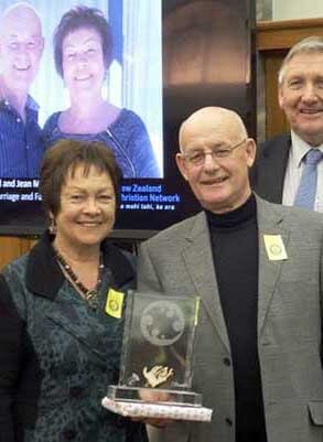 David and Jean Moore receive the Unsung Heroes Award, September 2014